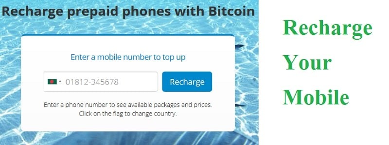 Mobile top up with Bitcoin