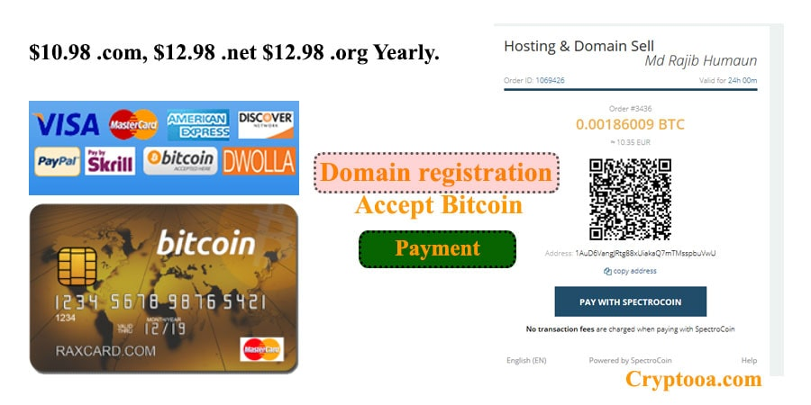 Domain Registrar Accept Bitcoin