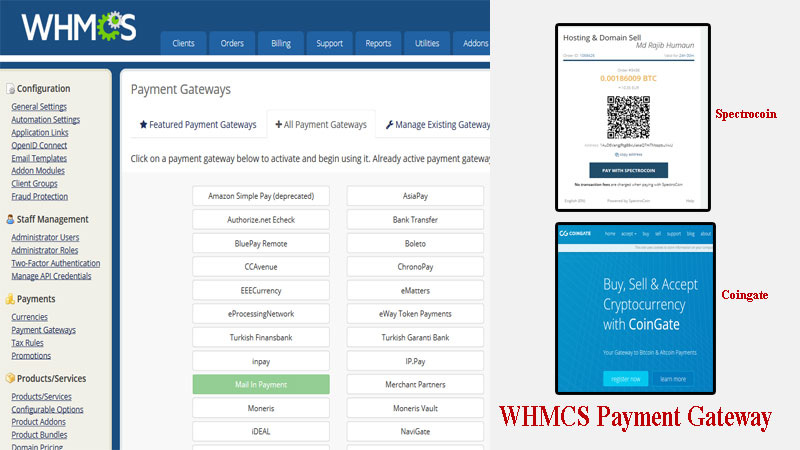 How to setup WHMCS Bitcoin payment gateway