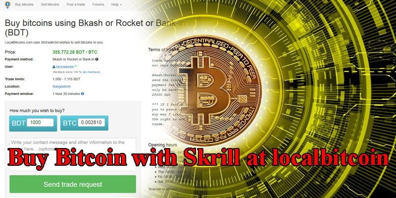 Guide to Buy Bitcoin with Skrill at localbitcoin