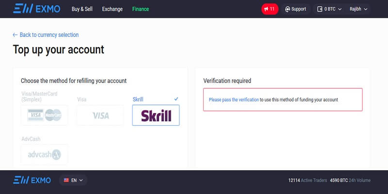 Bitcoin Skrill At Exmo