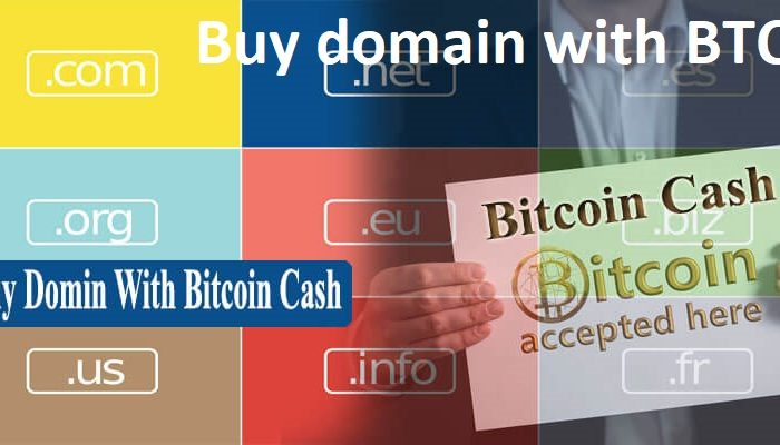 Buy Domain with Cryptocurrency And BTC