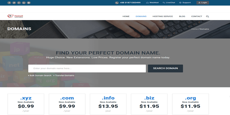 website accept btc for domain