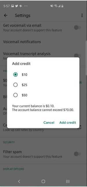 how much credit you want to add