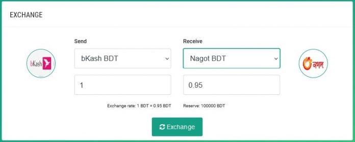 Transfer Cash from bKash to Nagad